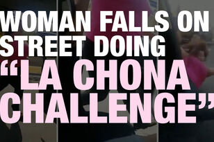 San Diego Woman Falls on Street Doing 'La Chona Challenge'