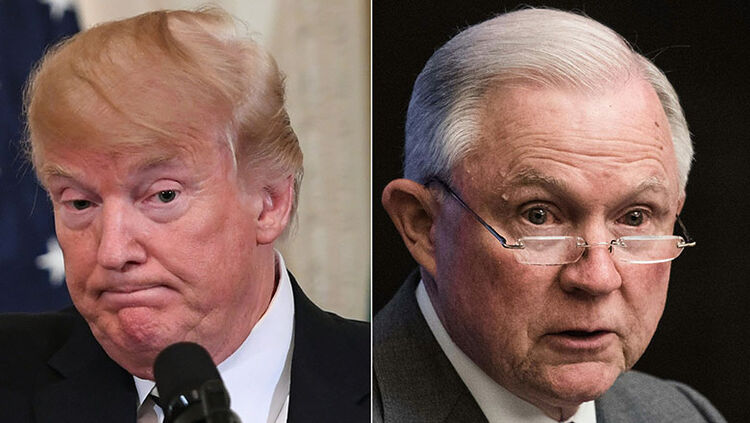 President Donald Trump, Attorney General Jeff Sessions
