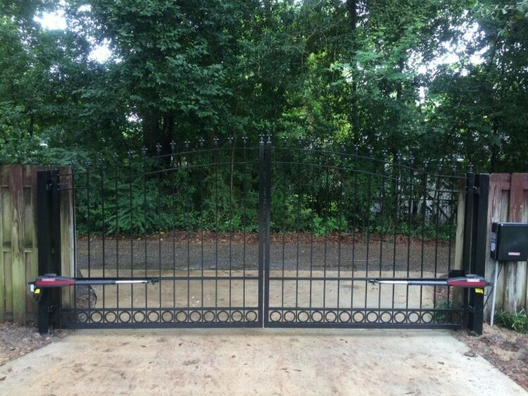 Our New Gate, Looking Outside the Yard