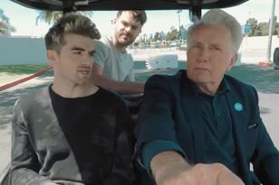 The Chainsmokers Hitch A Ride to WE Day With Martin Sheen In A Golf Cart