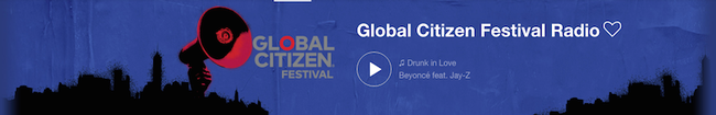 Global Citizen Festival Radio