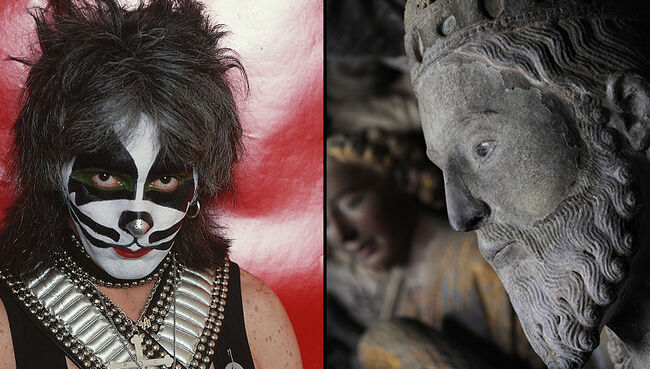 Police Hunting for Vandal Who Painted KISS Makeup on 12-Century Statue