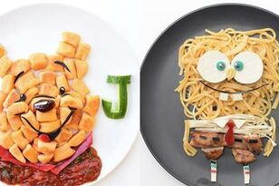 This Mom Makes Her Kid's Meals That Look Like Cartoon Characters