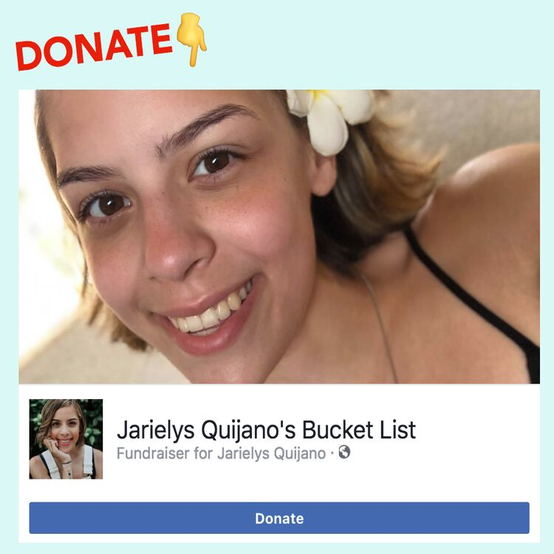 Jarielys Quijano's Bucket List Fundraiser for Jarielys Quijano