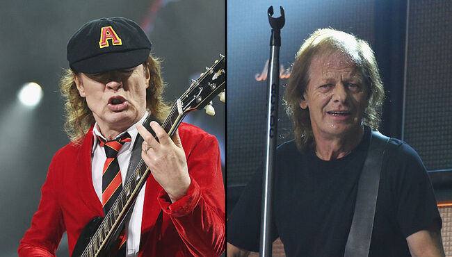 Angus and Stevie Young Seen at Recording Studio in Vancouver