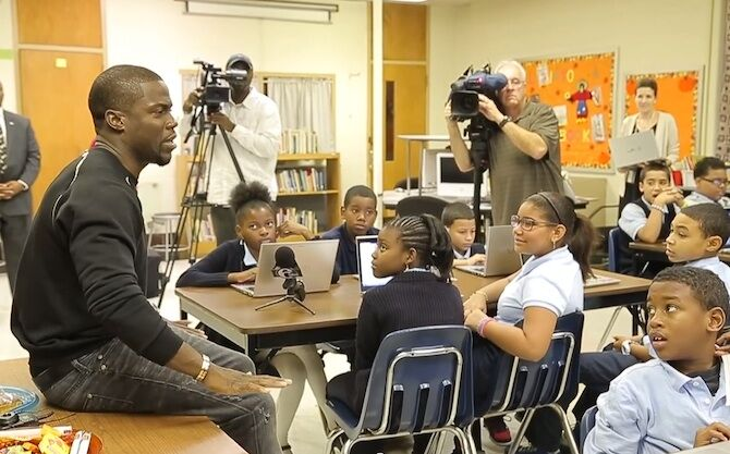 Kevin Hart is known for giving back