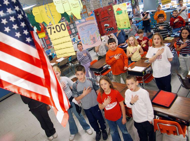 Atlanta school to no longer require pledge at beginning of school day