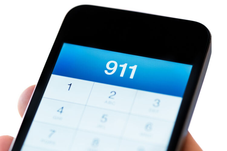 911 call Getty RF