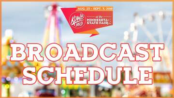 KDWB at Minnesota State Fair - 101.3 KDWB State Fair Broadcast Schedule 2018