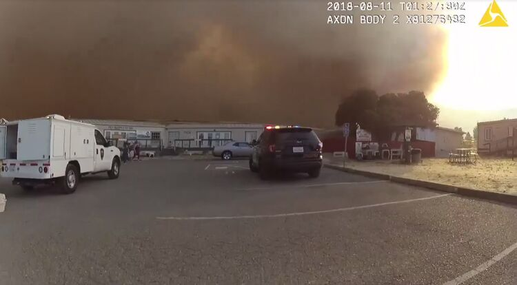 police rescue 60 animals from path of approaching wildfire