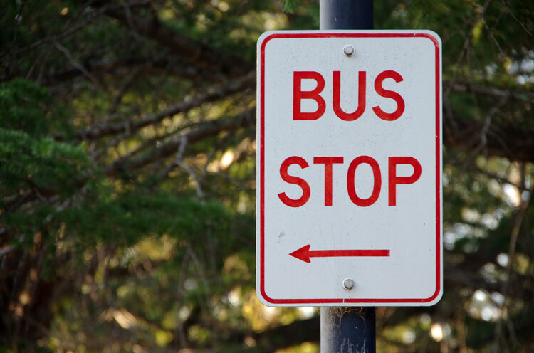 Bus Stop sign Getty RF