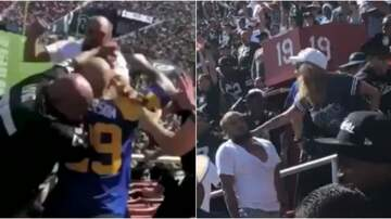 Jeremie Poplin - Of course there was a fight at the Rams and Raiders game.