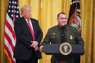 """Speaks perfect English"" - Trump introducing border patrol agent"