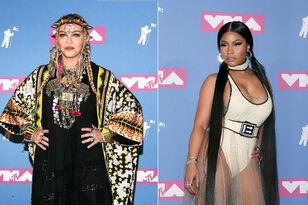Madonna Sneaks In A Kiss With Nicki Minaj Backstage Of The 2018 MTV VMAs