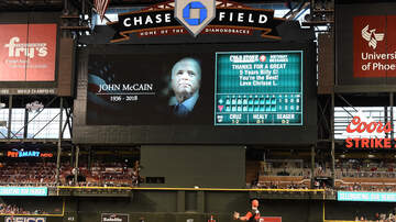 None - Diamondbacks Give Tribute To Sen. John McCain; Fans Give Standing Ovation