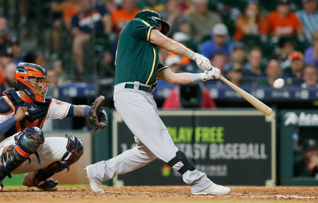A's Stun Astros In Ninth