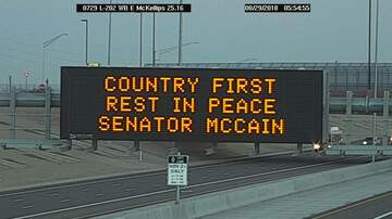 Phoenix Top Stories - ADOT Does Touching Tribute To Sen. John McCain As Memorial Services Begin