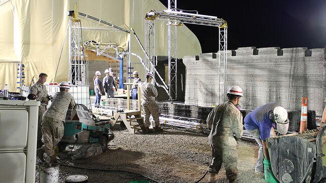 U S  Marines 3D Print Concrete Barracks In Just 40 Hours