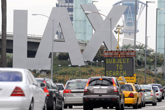 Heavy traffic at LAX over Labor day weekend
