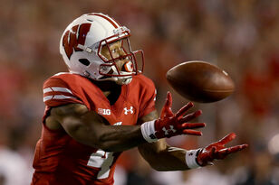 A.J. Taylor catches five passes in Badgers' season-opening win