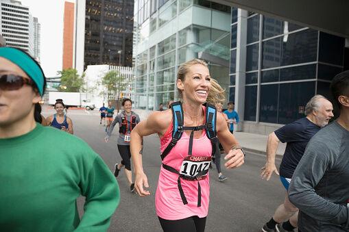 Getty-Woman Running Marathon