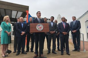 First Temporary Homeless Shelter in Garcetti's Citywide Program to Open