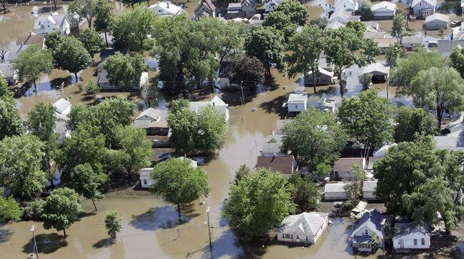 2016 Cedar River flooding in Cedar Rapids. Photo KCRG TV
