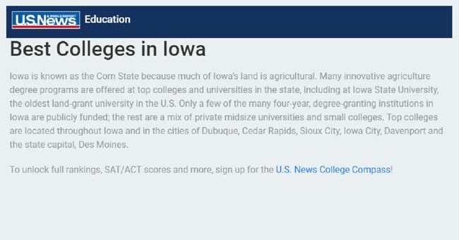 Two Iowa colleges make U S  News best list | 1040 WHO