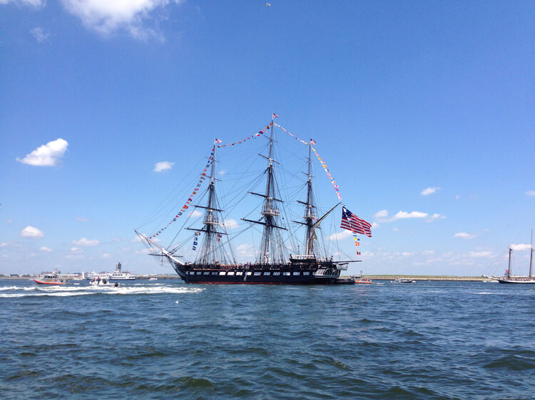USS Constitution during it's annual 4th of July turnaround cruise. (Credit Shaqnanies/iStock/Getty Images Plus)