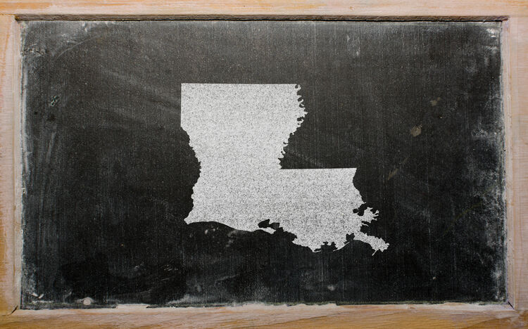 Louisiana On Chalkboard Getty RF
