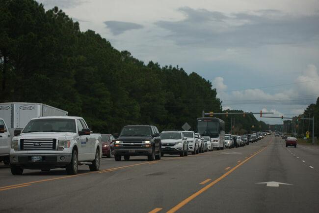 Vehicles escape hurricane