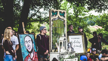96.1 KISS Close Ups - Photos: Mac Miller Blue Slide Park Vigil