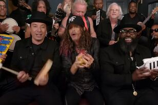 On A One .... Shoe, Three? Jimmy Fallon, Aerosmith & The Roots Jam Out!