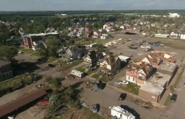 Marshalltown tornado damage July 19, 2018 KCRG TV photo