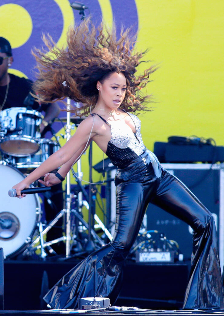 Evvie McKinney performs at the Daytime Stage at the iHeartRadio Music Festival