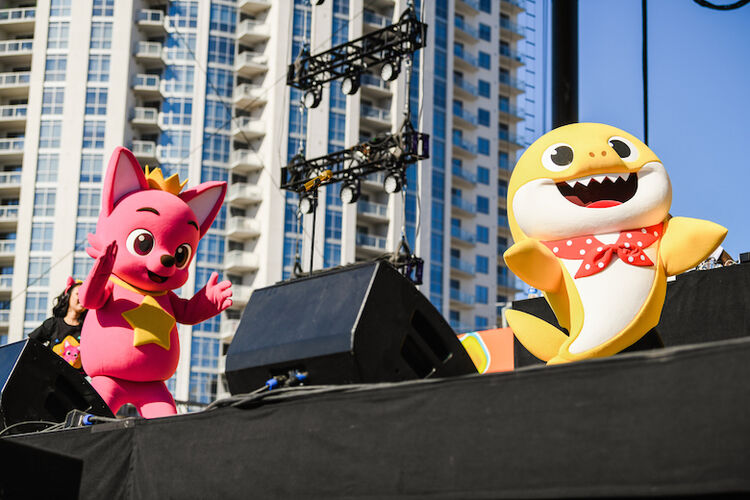 Baby Shark Performs at 2018 Daytime Village at the iHeartRadio Music Festival