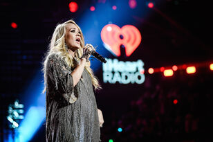 Carrie Underwood's Baby Was Kicking During Her iHeart Festival Performance
