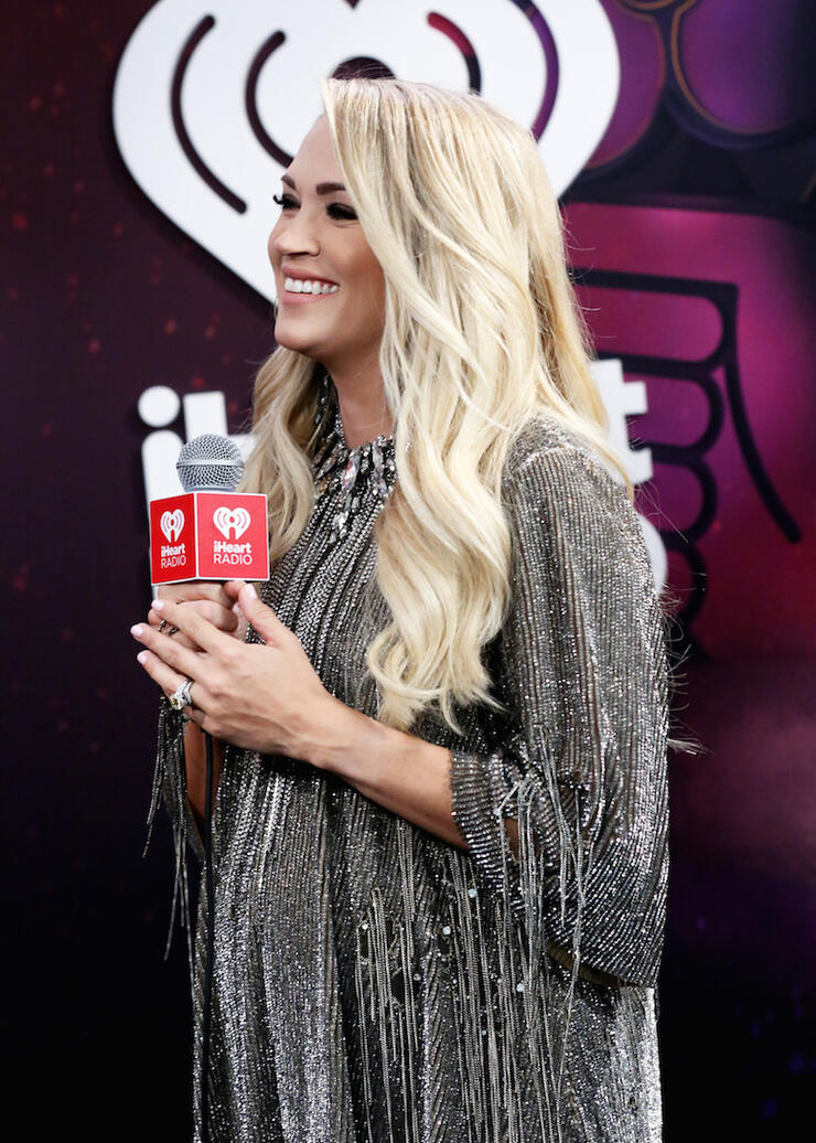 Carrie Underwood backstage at the 2018 iHeartRadio Music Festival