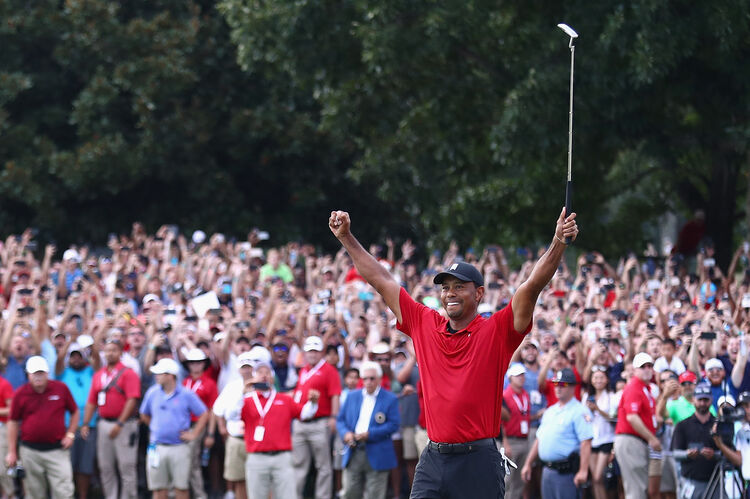 Tiger wins first major tournament in five years