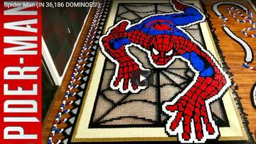 Crash - 36,000 DOMINOES AND ONE SPIDERMAN...HYPNOTIC.