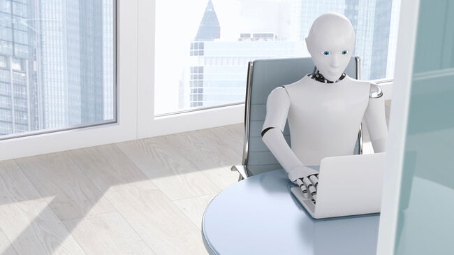 Robot In Office | GettyImages-675020313