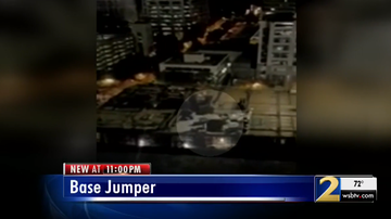 Paul - Two People BASE Jumping Off Crane In Midtown Atlanta