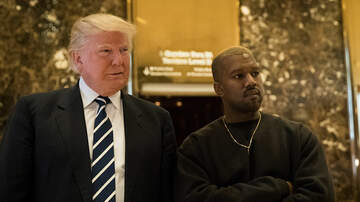 None - Kanye Rocks Kaepernick Shirt With Trump Hat