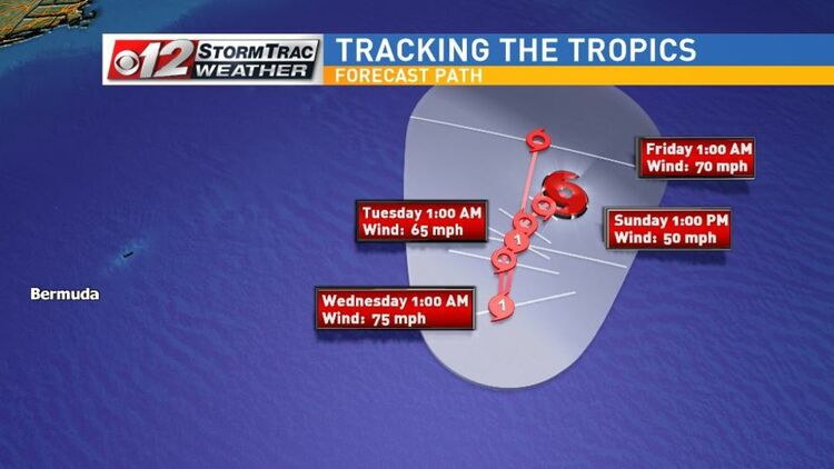 Tropical Storm Leslie Expected To Strengthen Over Central Atlantic