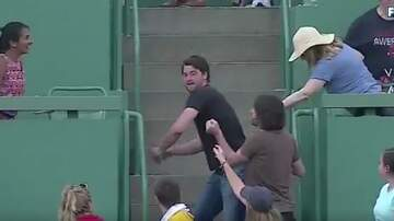 Mike McConnell - Giancarlo Stanton Hits HR, Fan Throws It Back and Hits Him!