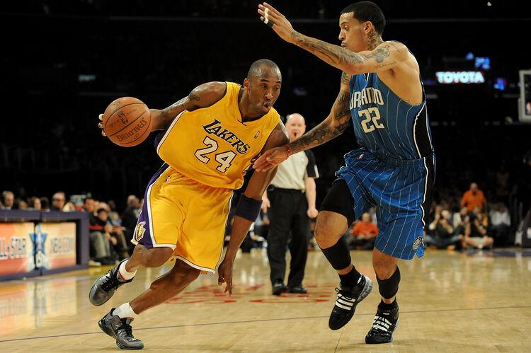 Kobe Bryant and Matt Barnes