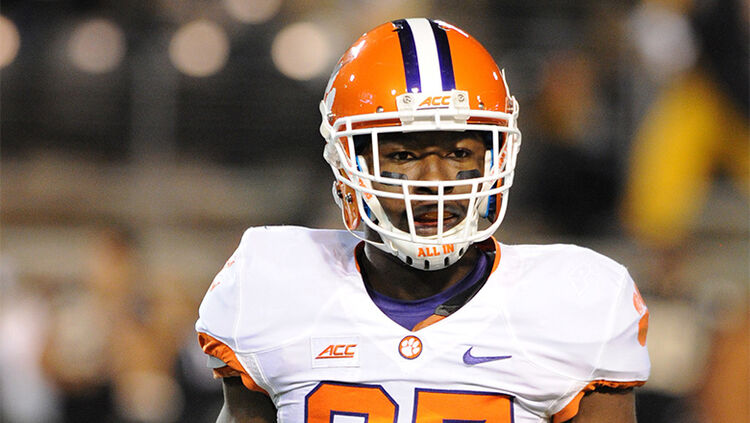 Clemson Tigers running back C.J. Fuller (27) at BB&T Field in Winston-Salem