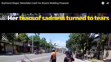 Jim Show - Guy Crashes Bike To Propose To Girlfriend!