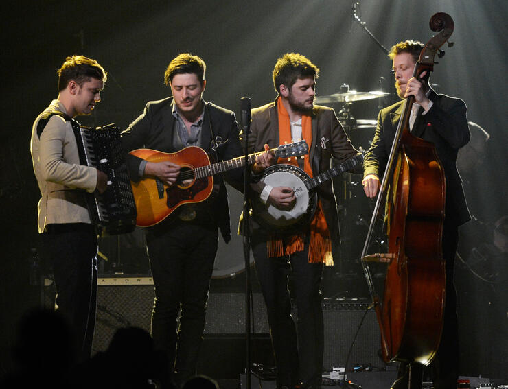 Mumford & Sons Performed With A Local Marching Band During Their ACL Set | iHeartRadio