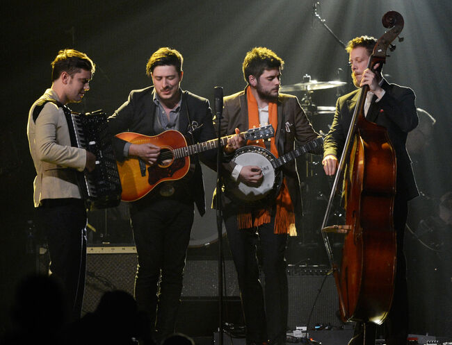 Mumford & Sons Performed With A Local Marching Band During Their ACL Set